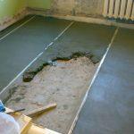 стяжка бетоном