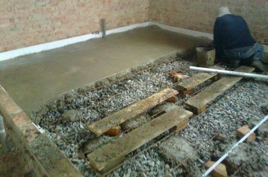 создание бетонного пола в гараже