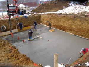 Применение бетона для фундамента